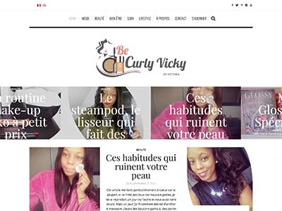 Be Curly Vicky - Site Vitrine - WordPress