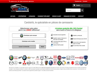 Cardistrib - Site E-Commerce - Prestashop