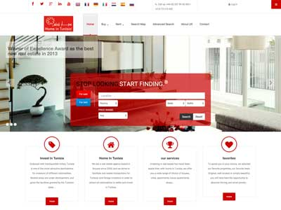 Home In Tunisia - Site Vitrine - Joomla