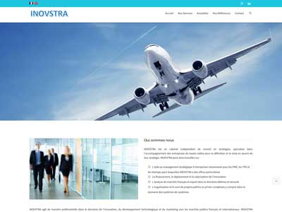 Inovstra - Site Vitrine - WordPress